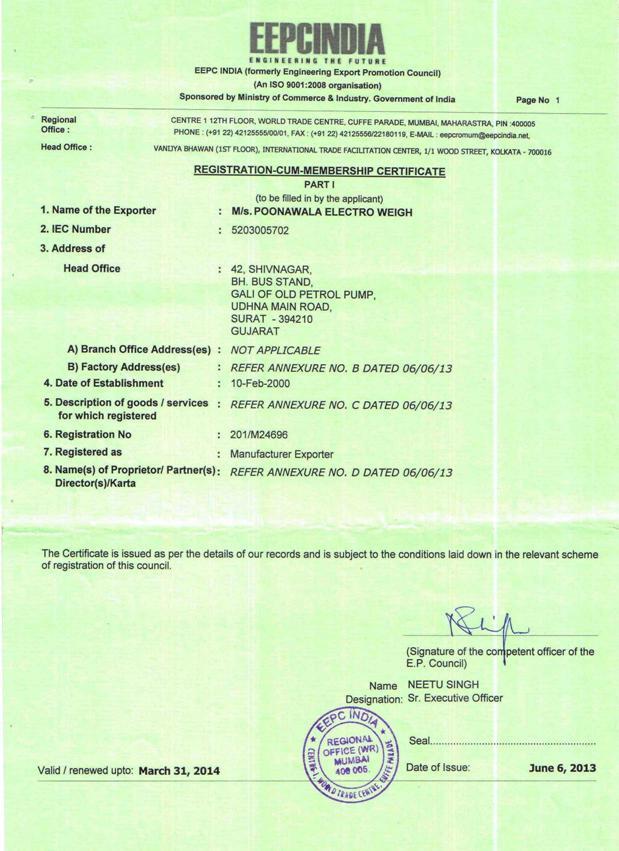 EEPS Membership Certificate
